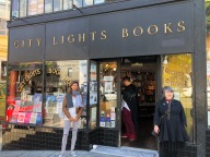 City lights books with rare photo of P. Segal on the right