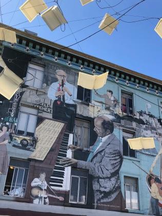 """Language of Birds"" art installation on Columbus street"